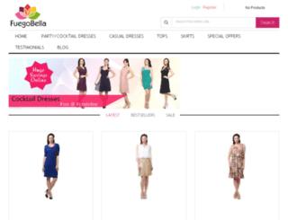 fuegobella.com screenshot