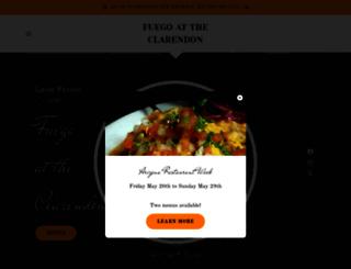 fuegobistro.com screenshot