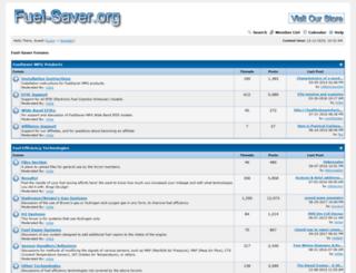 fuel-saver.org screenshot