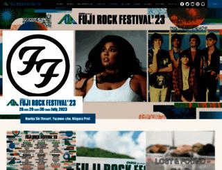 fujirock-eng.com screenshot