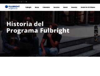 fulbright.edu.ar screenshot