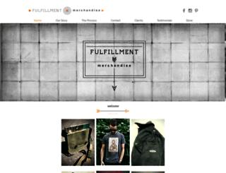 fulfillmentmerch.com screenshot