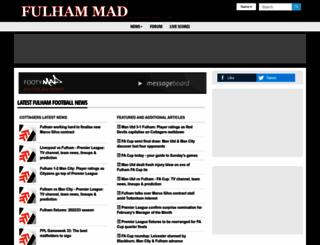 fulham-mad.co.uk screenshot