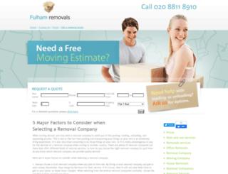 fulham-removals.co.uk screenshot