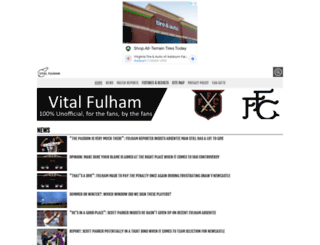 fulham.vitalfootball.co.uk screenshot