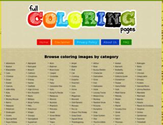 fullcoloringpages.com screenshot