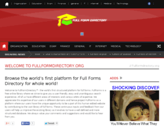 fullformdirectory.org screenshot