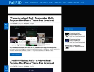 fullpsd.com screenshot