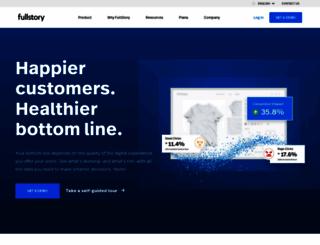 fullstory.com screenshot