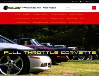fullthrottlecorvette.com screenshot