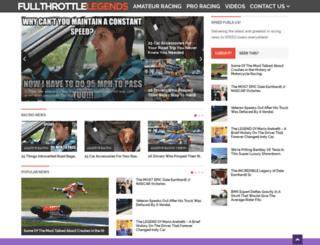 fullthrottlelegends.com screenshot