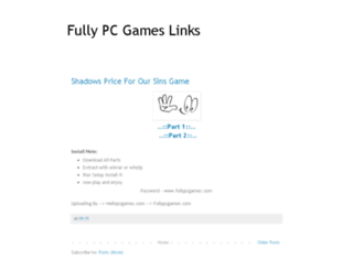 fullypcgamesdownloadlinks.blogspot.com screenshot