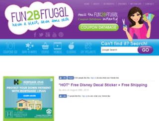 fun2bfrugal.com screenshot