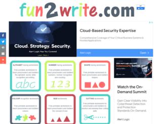 fun2write.com screenshot