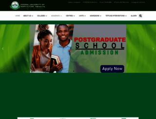 funaab.edu.ng screenshot