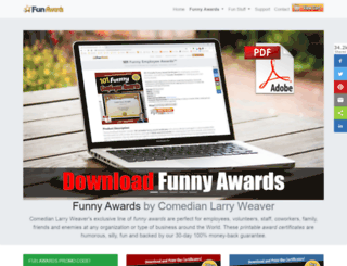 funawards.com screenshot