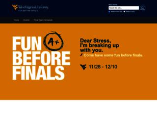 funbeforefinals.wvu.edu screenshot