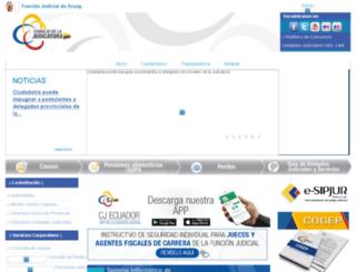 funcionjudicial-chimborazo.gob.ec screenshot