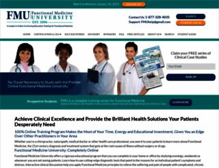 functionalmedicineuniversity.com screenshot