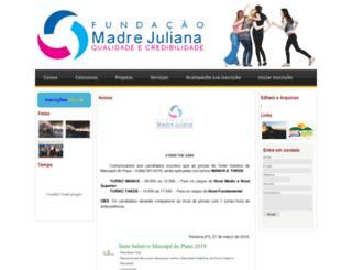 fundacaomadrejuliana.org.br screenshot