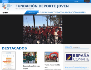 fundaciondeportejoven.es screenshot