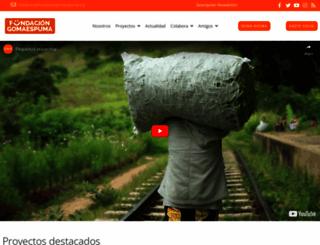 fundaciongomaespuma.org screenshot