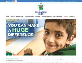 fundacionleon.org.mx screenshot