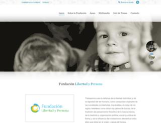 fundacionlibertadypersona.org screenshot