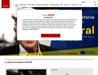fundacionmapfre.org screenshot