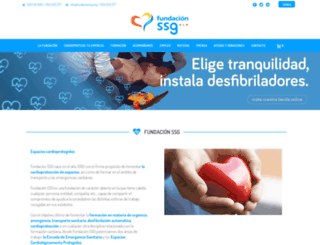 fundacionssg.org screenshot