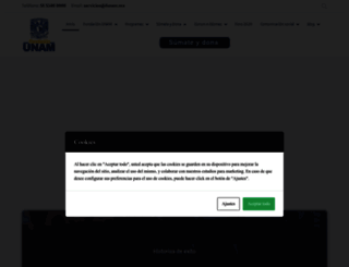 fundacionunam.org.mx screenshot