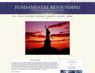 fundamentalrefounding.ning.com screenshot