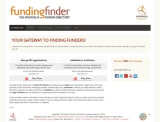 fundingfinder.co.za screenshot
