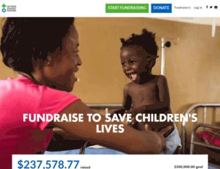 fundraise.actionagainsthunger.org screenshot