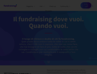 fundraising.it screenshot
