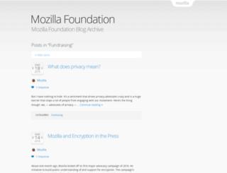 fundraising.mozilla.org screenshot