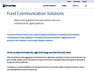 fundslibrary.co.uk screenshot