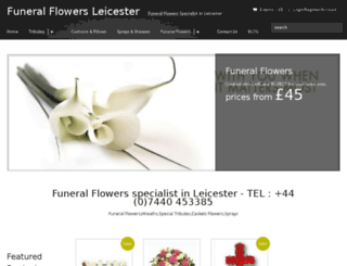 funeralflowers-leicester.com screenshot