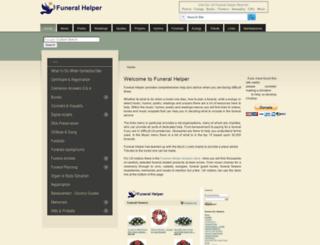 funeralhelper.org screenshot