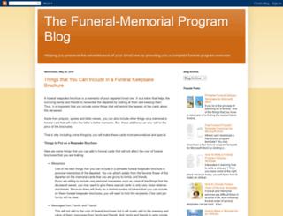 funeralmemorialprograms.blogspot.com screenshot