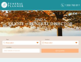 funeralorganiser.com.au screenshot