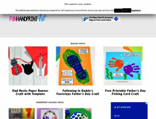 funhandprintart.blogspot.com screenshot