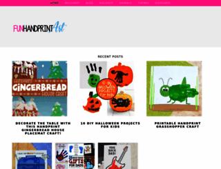 funhandprintartblog.com screenshot