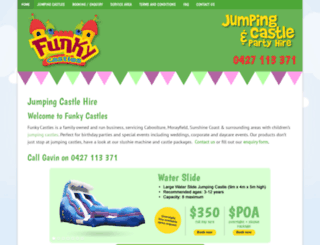 funkycastles.com.au screenshot