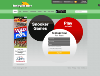funkysnooker.com screenshot