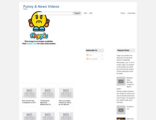 funnyandnewsvideos.blogspot.be screenshot