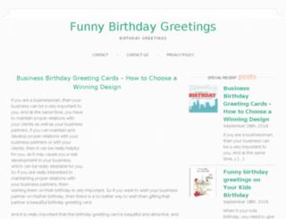 funnybirthdaygreetings.com screenshot