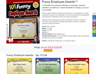funnyemployeeawards.com screenshot