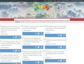 funnylifequotes.com screenshot