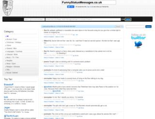 funnystatusmessages.co.uk screenshot